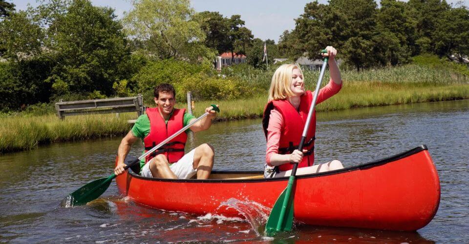 Ett par paddlar kanot